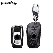 Peacekey Caso anillo Para BMW Caso Dominante de Cuero Genuino Llave Del Coche Para BMW F30 F20 X5 X3 X1 E30 E34 E36 E90 E60 E39 E4 del Sostenedor Tapa Del Teclado