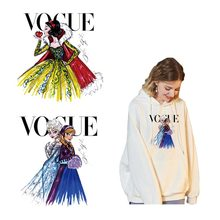 Patches Iron On Fashion Model Heat Transfer Appliqued Diy Washable T-shirt Decoration Hot VOGUE Thermal Sticker Wholesale Z-14