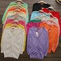 Manga três quartos suéter feminino projeto curto ultra-fino roupas de proteção solar capa outerwear ar condicionado