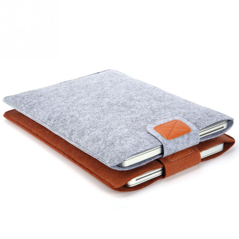 New Premium Soft Sleeve Bag Case Notebook Cover for 11in 13in 15in Macbook/Laptop/Tablet PC Fashion Pure Felt