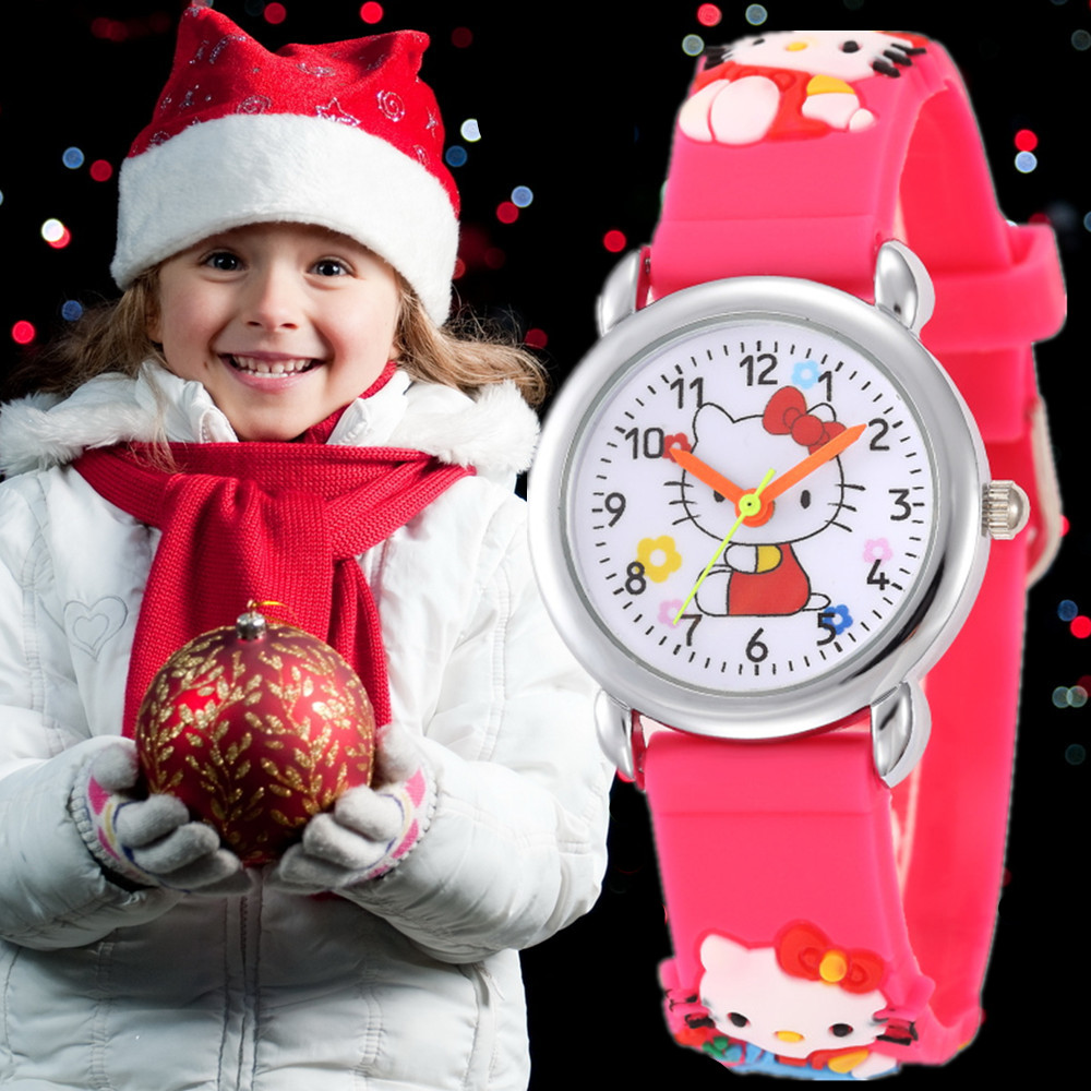 2019 New Cute Watch Baby Clock Children Cartoon Watch Kid Cool 3D Rubber Strap Quartz Clock Hours Christmas Gift Relojes Relogio