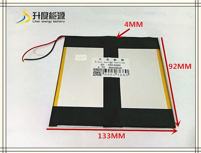 3.7 V 8000 mAH 4013392 bateria De Polímero de iões de lítio/bateria Li-ion para tablet pc, mp3, mp4, celular telefone, palestrante, banco de potência