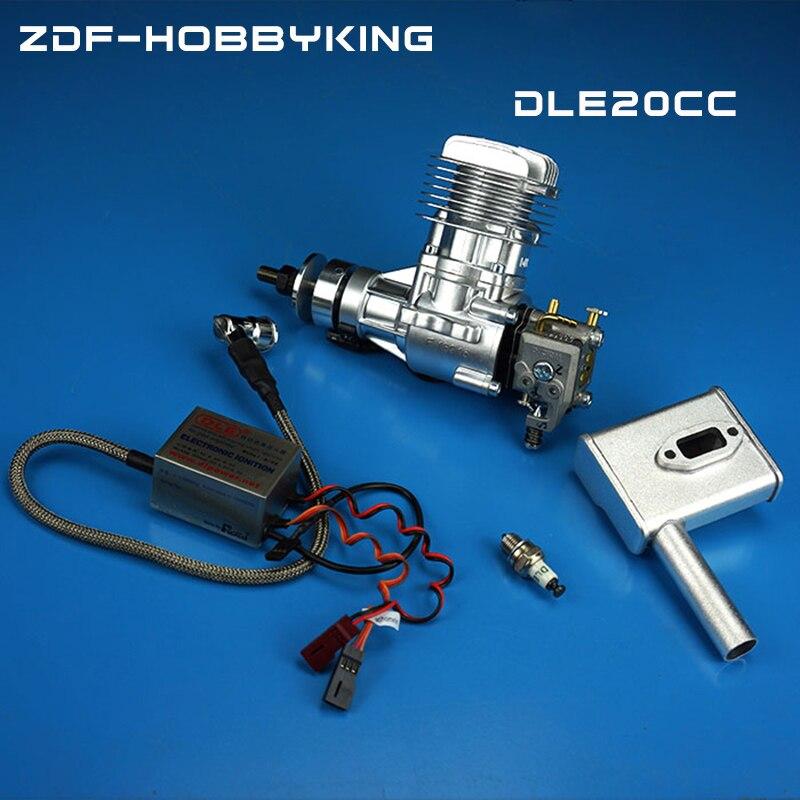Original Motor A GASOLINA DLE 20 20CC original 20CC Motor A Gasolina Para Avião RC modelo de venda quente, DLE20CC, DLE20