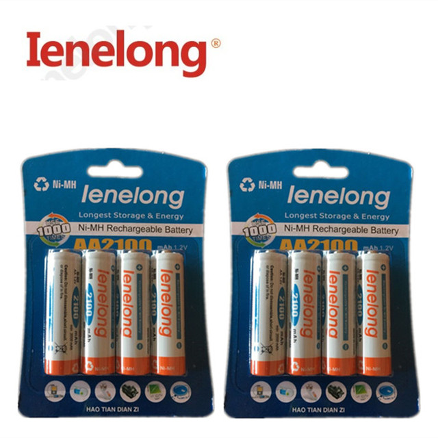 100% genuine original Ienelong  1600mAh NiMH AA rechargeable batteries, high-quality toys, cameras, flashlights