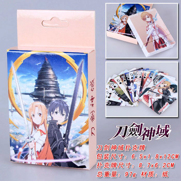 Anime Poker Sword Art Online Toys kazuto Asuna Game Collection Card [epcs love] art si scott eternal love limited edition poker card collection magic deck props