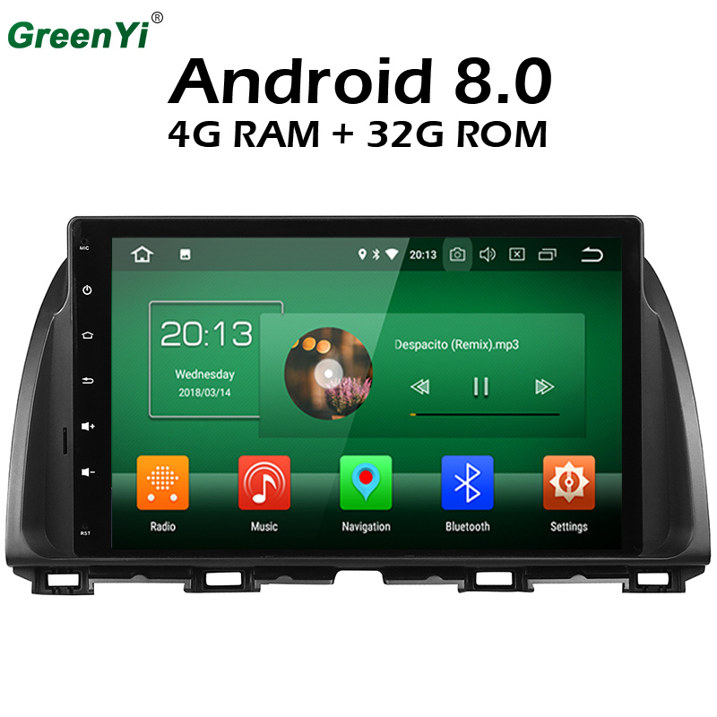 4GB RAM Octa Core 10.1 Android 8.0 Car DVD GPS Multimedia Player Fit For Mazda CX 5 CX 5 ATENZA Stereo Radio Head Unit