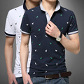 2016 Summer Casual Short-Sleeve Vetement Homme Male Turn-Down Collar Slim Men's Clothing Polo Shirt Cotton Print Costume Homme