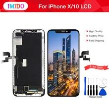 Pantalla de grado para iPhone X LCD, montaje de digitalizador 3D táctil AAA, Pantalla 100% perfecta, repuesto TFT Ecran