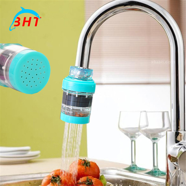 Bon High Quality Carbon Activated Water Filter Home Household Kitchen Mini  Faucet Tap Water Purifier Filter Filtration