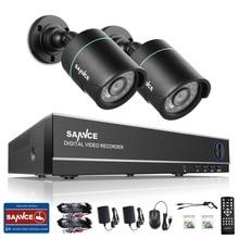 Sannce HD 4CH CCTV Системы 1080 P HDMI DVR 2 шт. 720 P 1280TVL наружного видеонаблюдения Товары теле- и видеонаблюдения камер безопасности 4ch dvr комплект