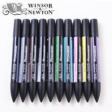 וינזור ניוטון Promarker 6/12 צבעים אמנות סמן בסדר טיפ מבוסס אלכוהול מרקר עטים זוגי בראשות Twin סמני אנימציה עיצוב