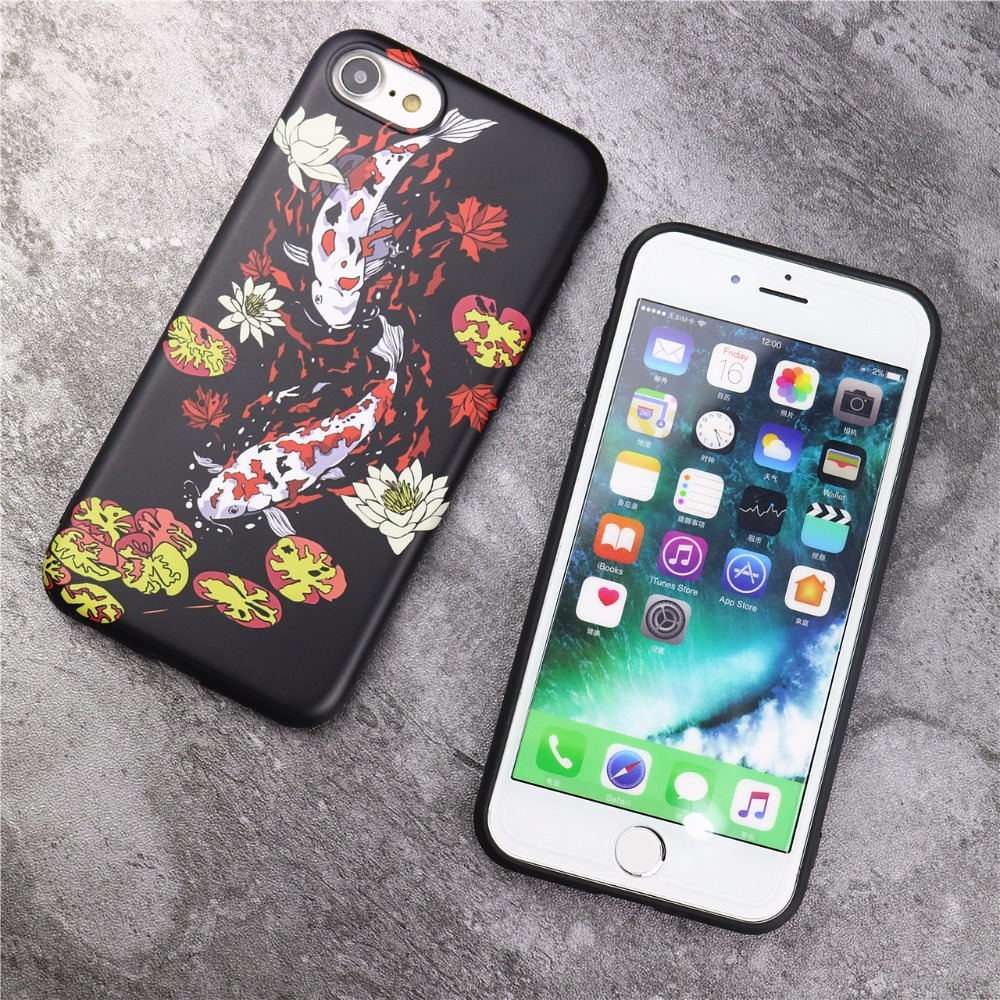 feng shui case. New Koi Fish Feng Shui Case For IPhone 7 6s 6 Plus Japenese Style Fashion Shell Skin Soft Back Cover-in Fitted Cases From Cellphones \u0026 Telecommunications On M
