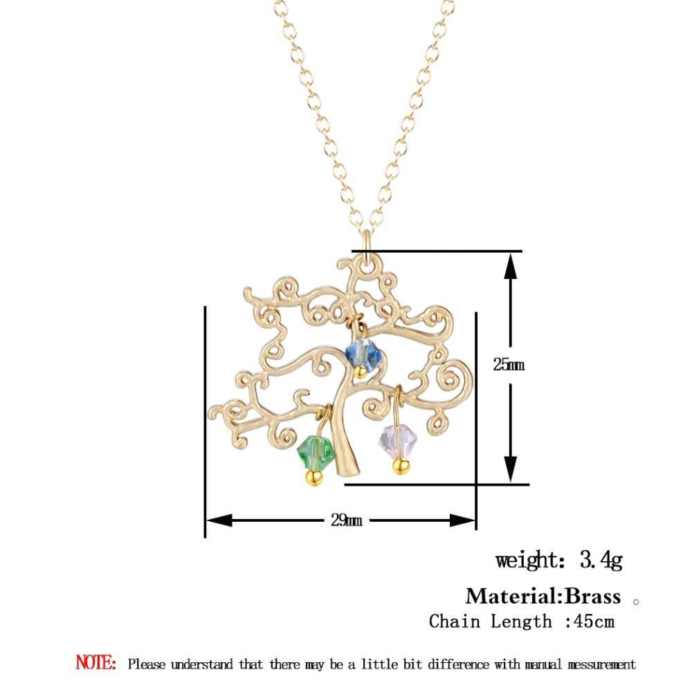 Todorova עץ משפחה תליון ארוך שרשרת עם Birthstones הצהרת שרשראות נשים אמהות יום מתנה להתאמה אישית
