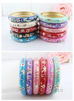 Wholesale10pcs Cute Chinese Handmade Kids Cloisonne Enamel Cuff Bracelet Bangle