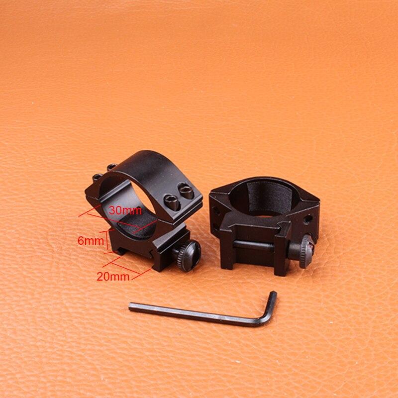Hunting Gun Accessories 30mm 1 2PCs Low Wide Profile Picatinny Weaver Rings Riflescope 20mm Rail Scope