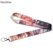 Patchfan Prison Break tv show cool diy keyring keychain neck lanyard webbing ribbon strap badge phone holder necklace A1689