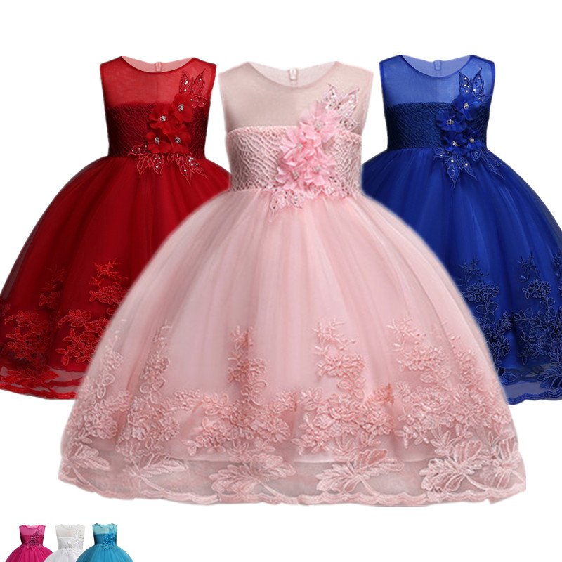 Flower Girls dresses for New Year clothes Party Baby Girls Princess Dress Christmas Kids Party Dress For Girl Children Costume kseniya kids 2017 girls summer clothes dresses toddler baby girl clothing princess dress flower party dress for girls 2 14 year