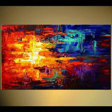 Large huge abstract modern canvas wall art huge coloring handmade knife paint oil painting on canvas for living room decoration