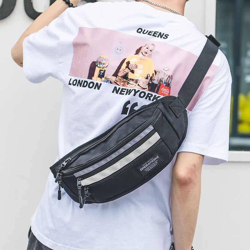 Мужская повседневная поясная сумка, брендовая Холщовая Сумка на плечо, Женская поясная сумка, сумка для денег, телефона