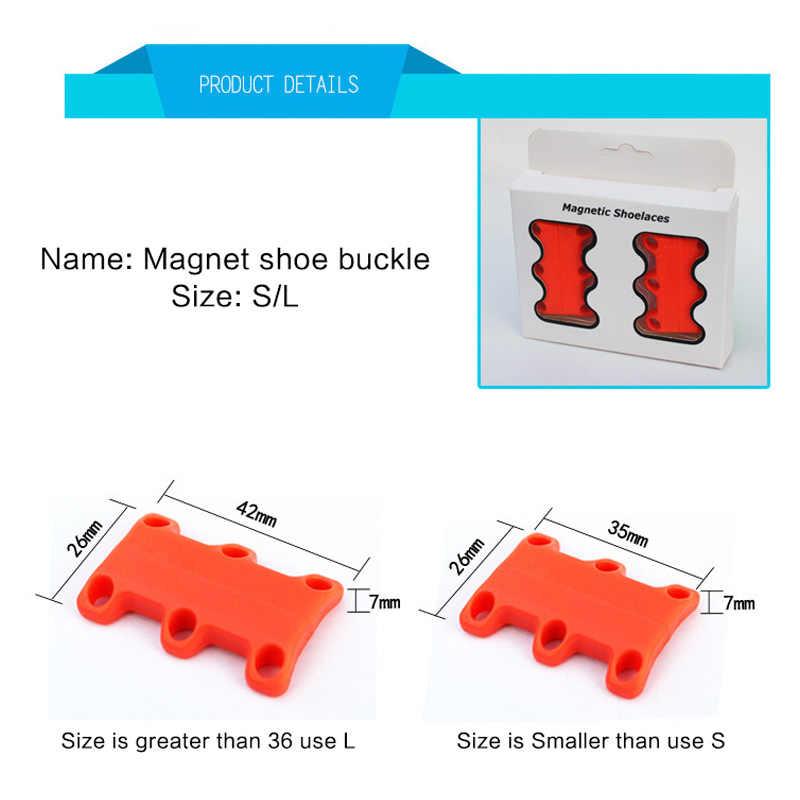 2 ขนาด 8 สีแฟชั่นที่แข็งแกร่งง่ายแม่เหล็กเชือกผูกรองเท้าสำหรับรองเท้าผ้าใบรองเท้า Buckles Closure No เน็คไทเชือกผูกรองเท้า