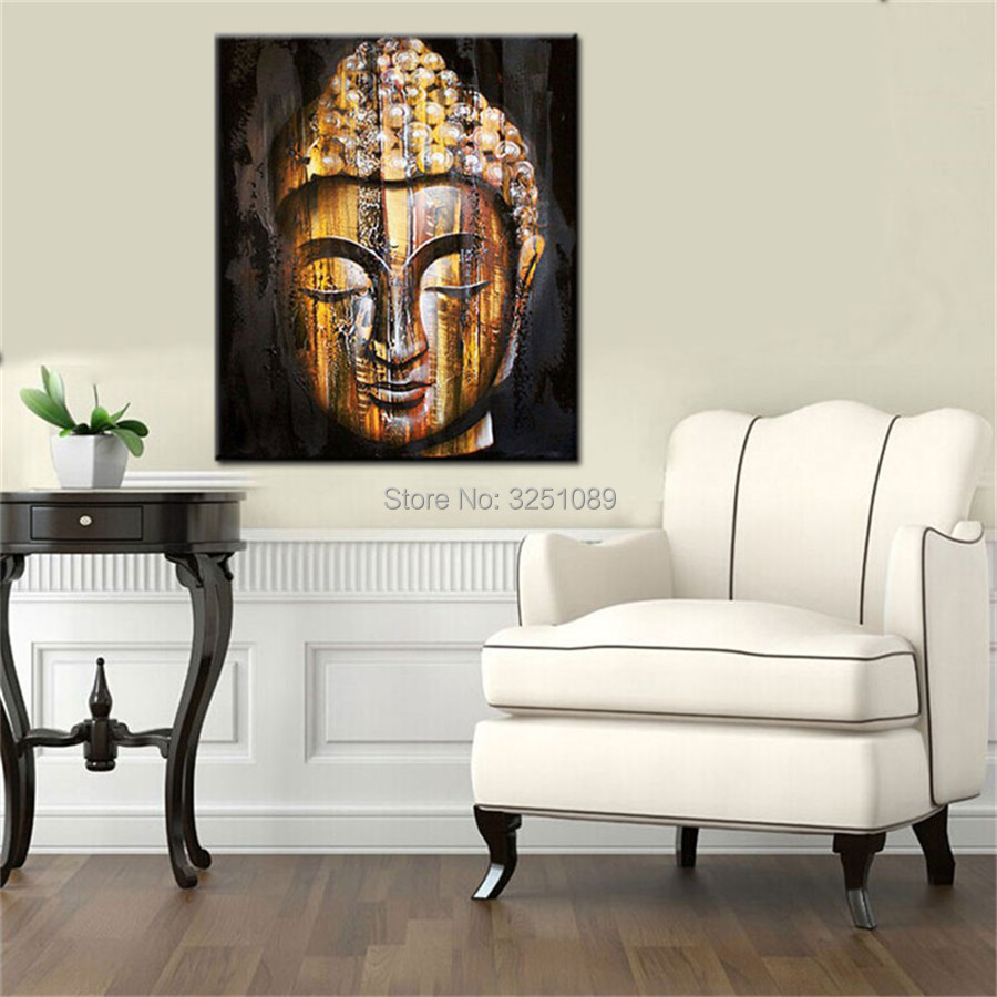 Hand Thailand Style Buddha Face Canvas Wall Art Classic Asian Buddhist  Artistic Design 100% Handpainted Oil Painting Pictures In Painting U0026  Calligraphy From ...