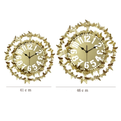 Clocks Tuda Free Shipping Modern Creativestyle Wall Clock Large Wall Clock Butterfly Shaped Metal Hanging Clock Mute Swing Wall Clock Wall Clocks