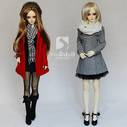 Free Shipping 1/3 Bjd clothes Slim wool coat sd