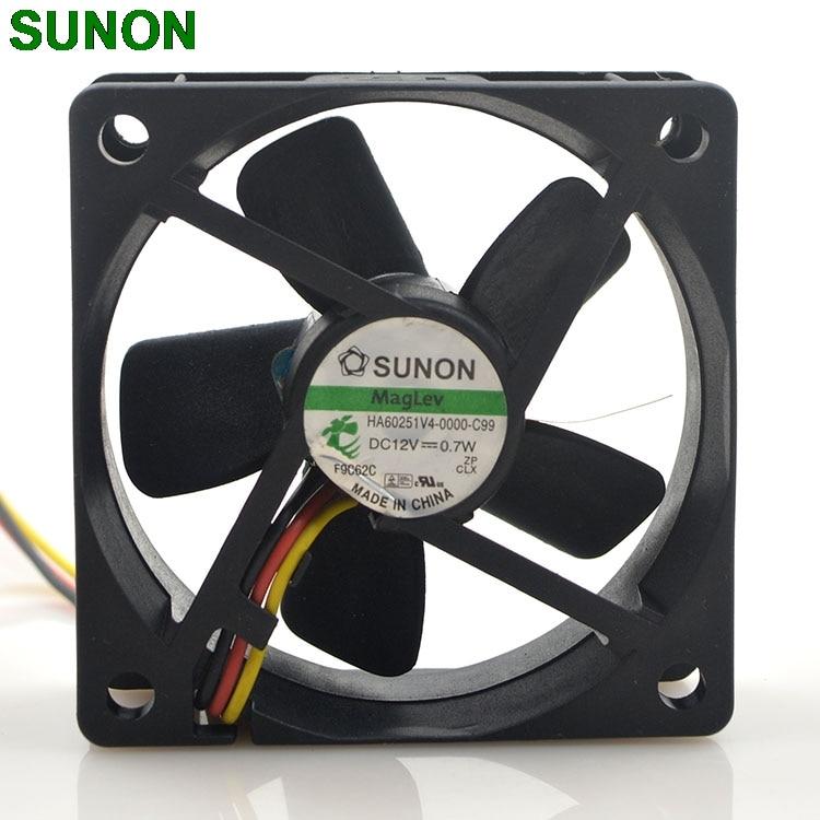 New 12V 0.7W 6CM ultra-quiet cooling fan HA60251V4-0000-C99