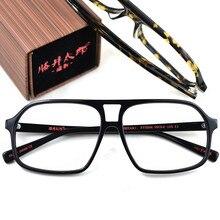 39aa173003 Productos cuadrado Acetata grandes anteojos marcos de madera Vintage  hombres mujeres óptico gafas claro lente gafas ámbar negro .