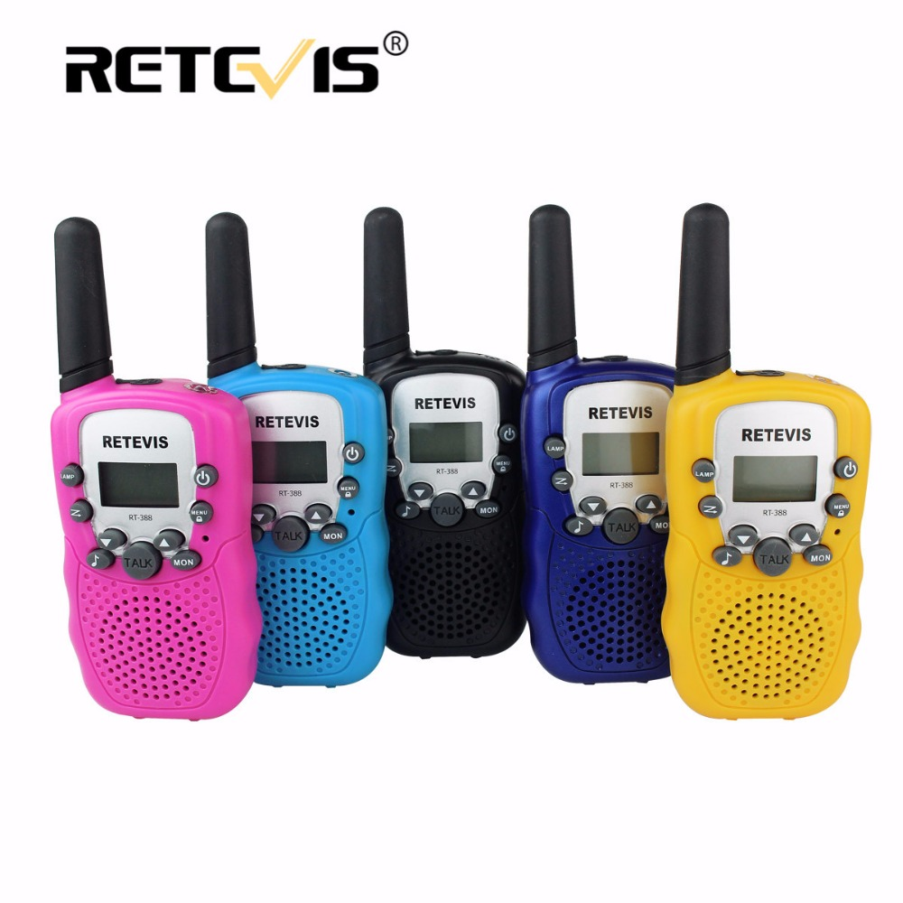 2pcs Retevis RT388 Toy Walkie Talkie Kids Children Radio 0 5W 8 22CH PMR VOX LCD