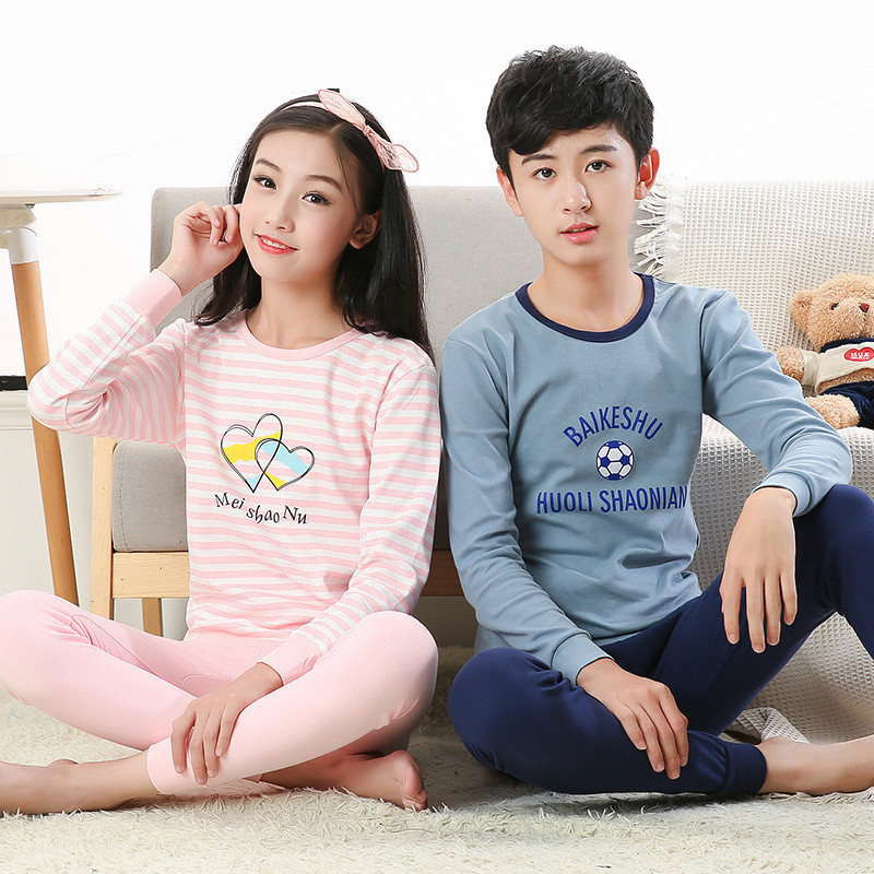 Autumn Children Clothes Kids Clothing Set Boys Pajamas Sets Nightwear Pajamas Girls Sleepwear Big Boy Girl Pyjamas Kids Clothes baby boy girls kid cartoon clothing pajamas sleepwear sets nightwear outfit children clothes