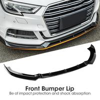 Bumper Protector for S3 Style Front Bumper Lip Spoiler for Audi A3 S Line 8V 2017 2018 Auto Accessories