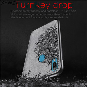 Image 2 - Huawei Y6 2019 Shockproof Soft TPU Silicone Cloth Texture Hard PC Phone Case For Huawei Y6 2019 Back Cover Huawei Y6 Prime 2019