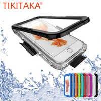 Étui de plongée étanche pour Iphone 8 7 6 6 s Plus étuis de téléphones portables pour Samsung Galaxy S8 S7 edge Plus coque Funda