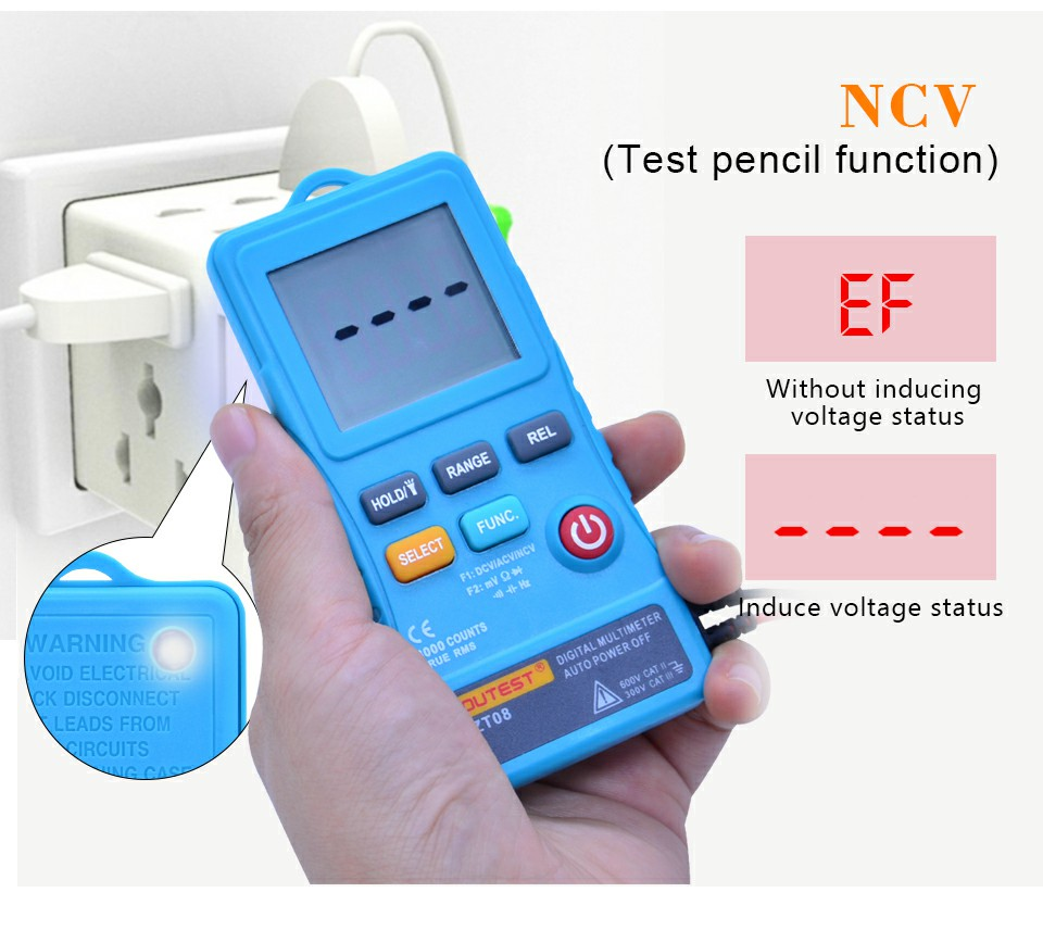 JENOR 8 in 1 Circuit Current Voltage Tester Voltage AC DC 6-500V Auto Electrical Pen Detector