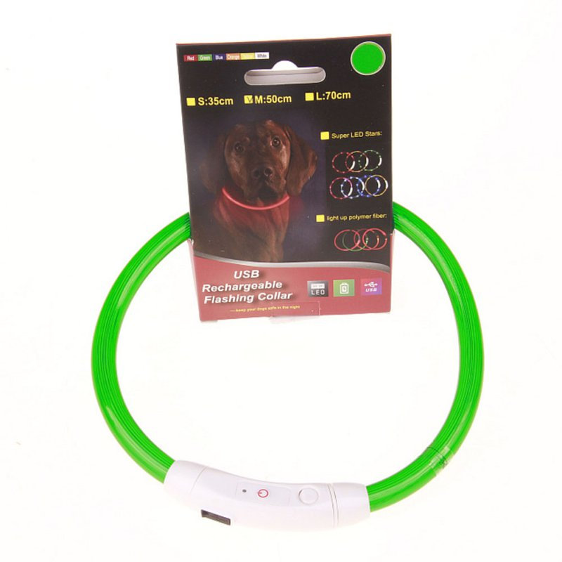 LED Blinkende USB Praktisk Genopladeligt Pet Hund Kugle Light Band - Pet produkter - Foto 1