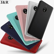 J & R Silicon Case Voor Motorola Moto E4 XT1762 XT1766 XT1763 Moto E (4th Gen) europese Versie Matte Soft TPU Back Cover Fundas(China)
