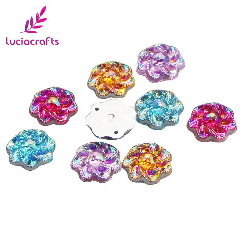 Lucia crafts 15mm Flower Shape Resin Flatback Rhinestones DIY Sewing Craft  24pcs lot 080002082-in Artificial   Dried Flowers from Home   Garden on ... ba132e833e34
