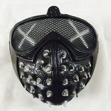 Часы Собаки Маркус Холлоуэй гаечные ключи маска ПВХ для взрослых мужчин Косплей Опора Костюм половина шлем Хэллоуин Часы Собаки 2 Косплей Маска
