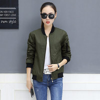 Pilot baseball uniform female spring and autumn short jacket jacket female 2018 new casual thin coat Korean version of wild 5522