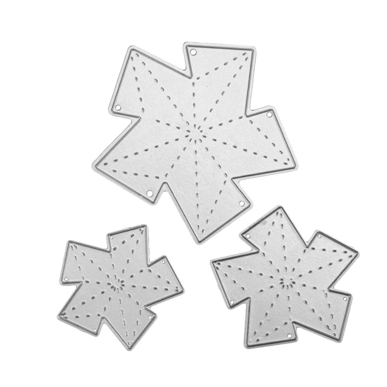 3 STÜCKE Verschiedene Größen Metall Carbon Stahl Sterne Präge ...