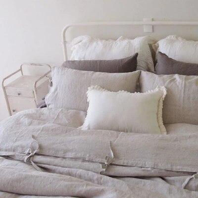 Природный дождь белье полосы наволочка одеяло набор Американский кровать юбка чистый белье четыре комплекта постельных принадлежностей