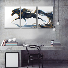 Drop Shipping Canvas Paintings Väggkonst för Living Room Posters och Prints Modern Animal Horse Modular Pictures on the Wall