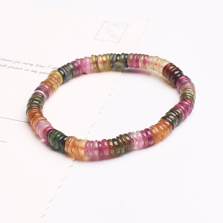 tourmaline roundel 6-7mm red   bracelet 7.5inch FPPJ wholesale beads nature amazing tourmaline roundel 6-7mm red   bracelet 7.5inch FPPJ wholesale beads nature amazing