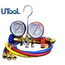 Freon ekleyerek göstergesi otomatik hava Conditiong sistemi ve R12 R22 R502 Manifld göstergesi