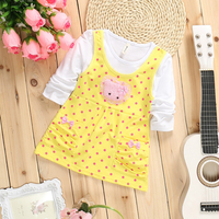 Baby Party Dress Dot Cartoon Images Dress For Baby Long Sleeve Spring New Cute Baby Dress