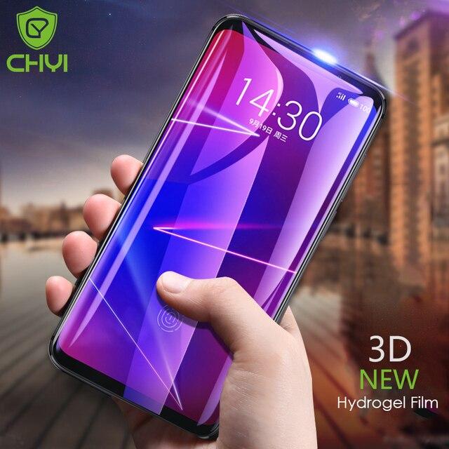 CHYI 3D Kavisli meizu pro 7 artı Ekran Koruyucu meizu 16th Için 16 s Tam ekran koruyucu Hidrojel Film Ile Aracı Değil temperli Cam