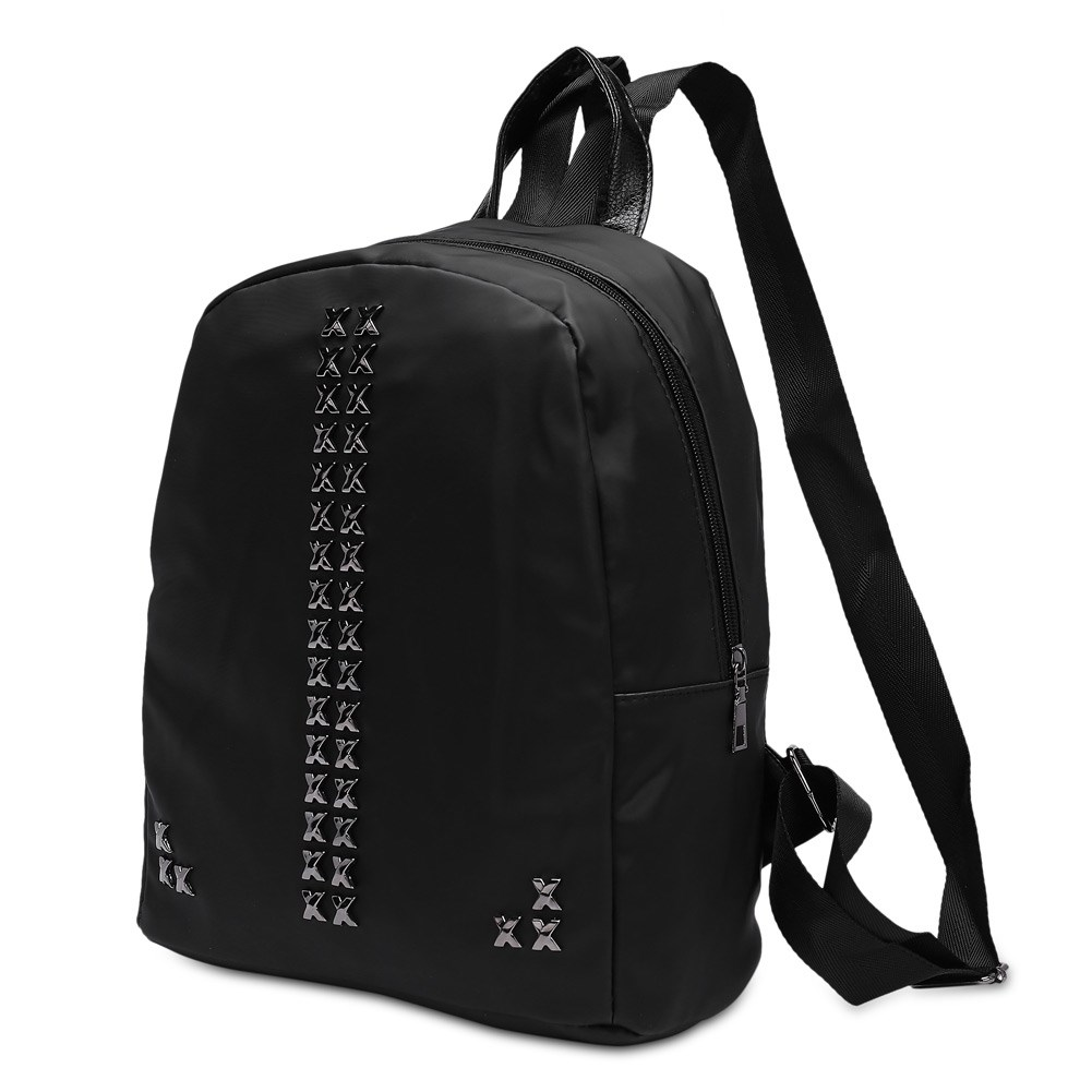 Women Oxford Backpack for Teenagers Girls Preppy Style Solid Color Zipper Softback Backpack School Laptop Backpack Bags