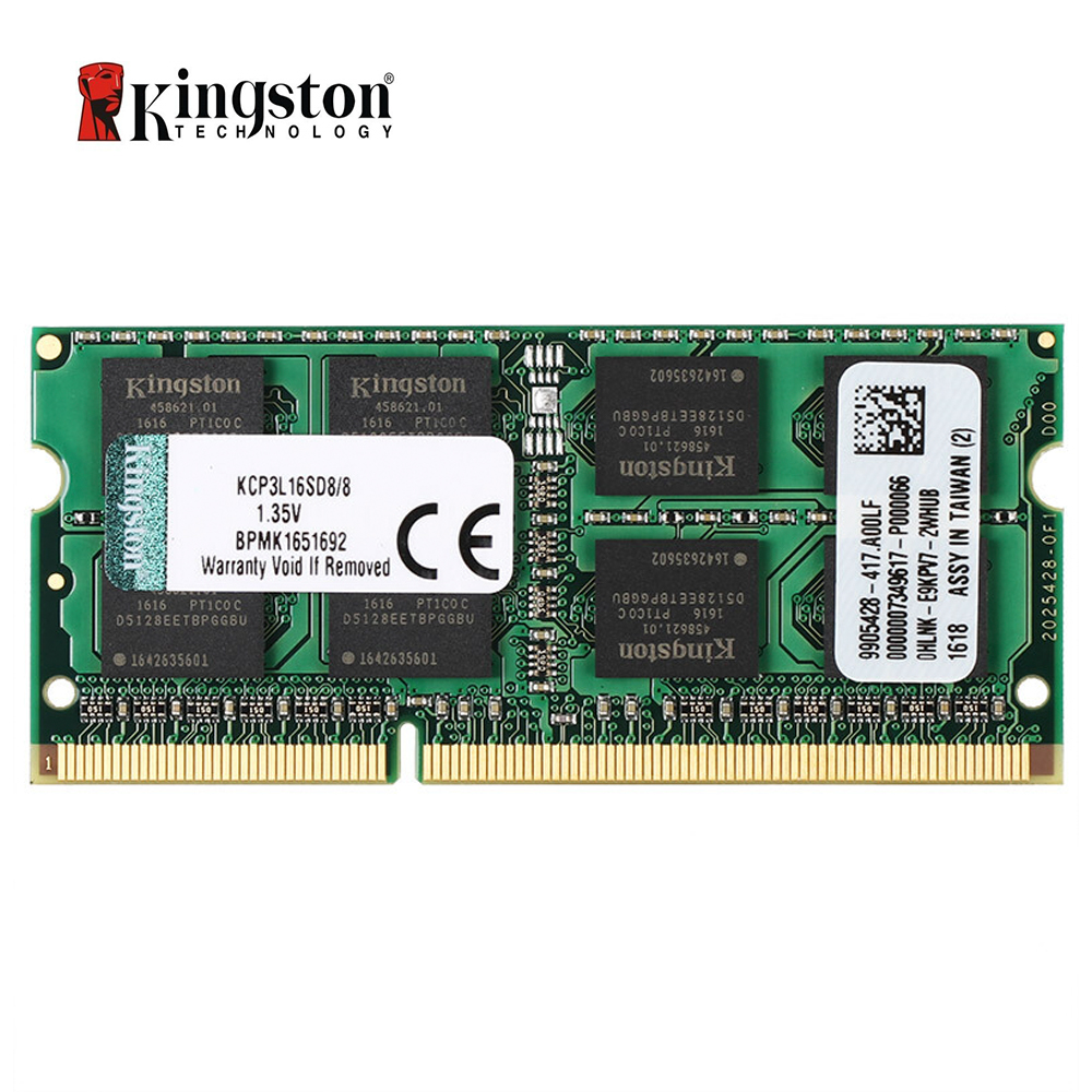 Ram do portátil de kingston 8 gb ddr3l 1600 mhz 1.35v (kcp3l16sd8/8)