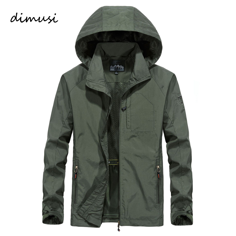 DIMUSI Autumn Men s Thin Jacket Male Casual Overcoat Army Tactics Windbreaker Jacket Mens Waterproof Breathable Innrech Market.com